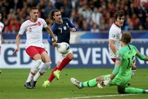 خلاصه بازی فرانسه 1 - ترکیه 1