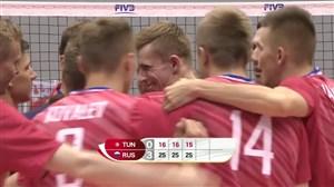 خلاصه والیبال تونس 0 - روسیه 3