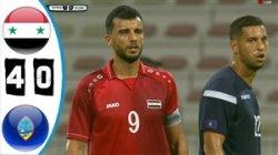 خلاصه بازی سوریه 4 - گوام 0 (مقدماتی جام جهانی)