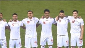 رفتار بیشرمانه از بحرینی ها هنگام سرود ملی ایران