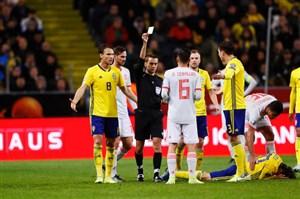 خلاصه بازی سوئد 1 - اسپانیا 1 (مقدماتی یورو)