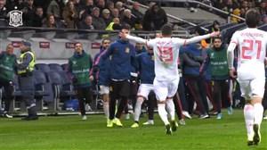 گل ثانیه های پایانی رودریگو از دوربین تیم اسپانیا