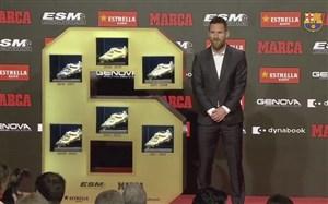 کسب ششمین کفش طلای اروپا توسط لیونل مسی