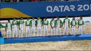 مراسم اهدای جوایز رقابت های جهانی فوتبال ساحلی قطر