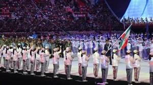 رژه ایرانیان در افتتاحیه مسابقات نظامیان جهان در چین