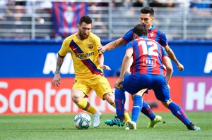 خلاصه بازی ایبار 0 - بارسلونا 3 (درخشش مسی)