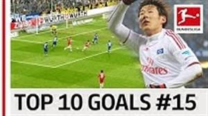 برترین گلهای بازیکنان بوندسلیگا با پیراهن شماره 15