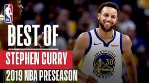 برترین های استفن کری در پیش فصل NBA