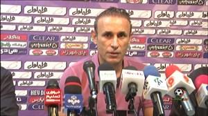 کنفرانس خبری گل محمدی بعد از دیدار با ذوب آهن