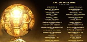 30 نامزد دریافت توپ طلا معرفی شدند