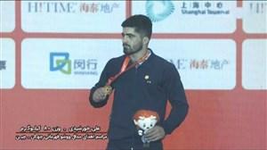 مراسم اهدای مدال طلا به علی خورشیدی