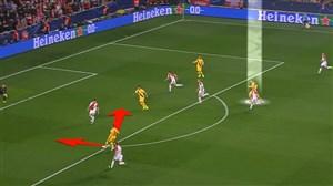 آنالیز گل اول بارسلونا به اسلاویا توسط مسی