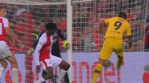گل دوم بارسلونا به اسلاویاپراگ (سوارز)