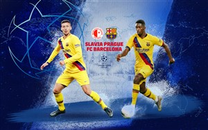 خلاصه بازی اسلاویاپراگ 1 - بارسلونا 2