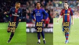مقایسه مهارتهای مسی , امباپه و رونالدو در سن 20 سالگی