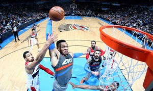 خلاصه بسکتبال اوکلاهاماسیتی - واشنگتن ویزاردز