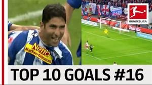 10 گل برتر بازیکنان بوندسلیگا باشماره 16