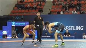 پیروزی علیرضا سرلک برابر حریف ژاپنی (وزن 57kg)
