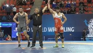 پیروزی قاسمی پور نماینده وزن 86 کیلوگرم مقابل حریف لهستانی