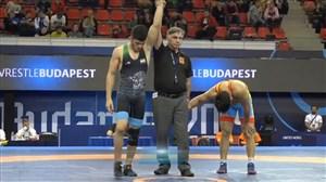پیروزی نخودی مقابل حریفی از قزاقستان (74کیلوگرم)