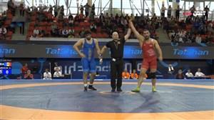 پیروزی مقتدرانه زارعی برابر حریف مولداوی وزن (125کیلو)