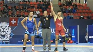 پیروزی نخودی برابر حریف مغولستانی وزن (74کیلو)