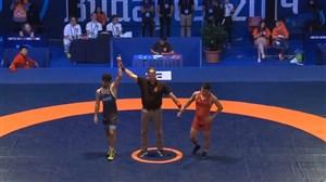 کسب مدال برنز وزن 57 کیلو توسط علیرضا سرلک