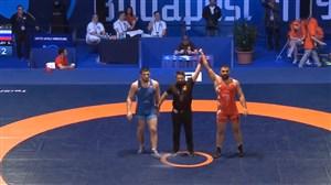 کسب مدال طلای وزن 97 توسط مجتبی گلیج