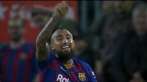 گل دوم بارسلونا با پاس گل زیبای مسی (ویدال)