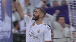 گل چهارم رئال مادرید به لگانس (بنزما) پنالتی
