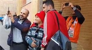 ورود تیم تراکتور به استادیوم یادگار امام تبریز