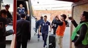 ورود تیم استقلال به ورزشگاه یادگار امام