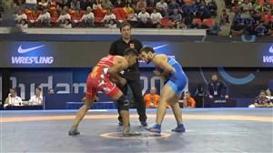 پیروزی گرایی برابر حریف روس (وزن 72 کیلو)