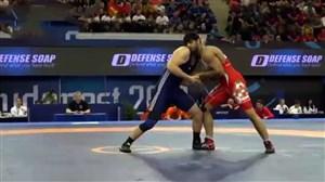 پیروزی ساروی برابر حریف صربستانی (97kg)