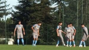 تمرین تیم ترابزون با حضور مجید حسینی
