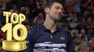 10 امتیاز برتر مسابقات تنیس پاریس 2019