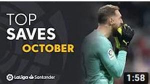 سیوهای برتر ماه اکتبر لالیگا اسپانیا
