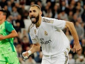 گل اول رئال مادرید به سوسیداد توسط بنزما