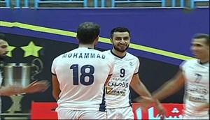 خلاصه والیبال شهرداری ورامین 3 - فولاد سیرجان 1