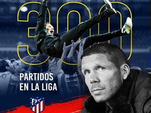300 بازی هدایت اتلتیکو مادرید با دیگو سیمئونه