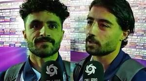 گفتگو با خرم الحسینی و مرادی بعد از کامبک برابر ذوب آهن