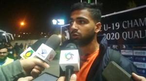 گفتگو با بازیکنان تیم ملی جوانان بعد از برد نپال