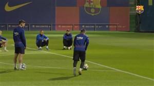 آخرین تمرین بارسلونا قبل از بازی سلتاویگو