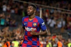 اولین گل عثمان دمبله برای بارسلونا مقابل چلسی