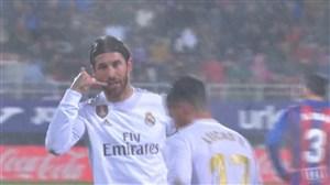 گل دوم رئال به ایبار (راموس-پنالتی)