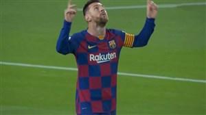 گل اول بارسلونا به سلتاویگو پنالتی (مسی)