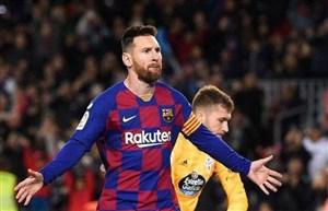بارسلونا 4-1 سلتا: سه امتیاز با هت تریک مسی