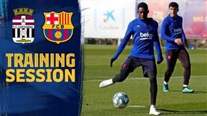 تمرین آماده سازی بازیکنان بارسلونا