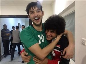 ستاره عراق در آغوش گرم سردار (عکس)
