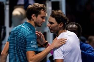 خلاصه تنیس نادال 2 - مدودف 1 (تور جهانی 2019)